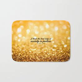 """I think the first... """"Alexander Hamilton"""" Inspirational Quote Bath Mat"""