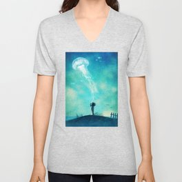 The Thing About Jellyfish Unisex V-Neck