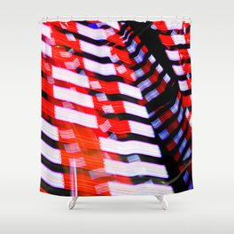 Abstract Red White and Blue Lights Shower Curtain