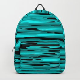 Sparkling luxurious light blue scribbles of art waves and shiny lines. Backpack