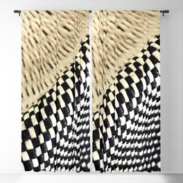 Basket Weave and Checkerboard Hat Pattern Blackout Curtain