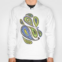 paisley Hoodies featuring Paisley by Laura Maxwell