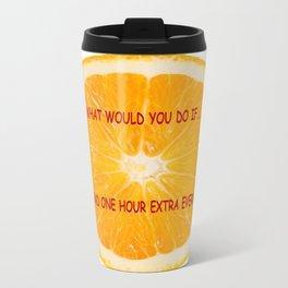 Life is an Orange Travel Mug