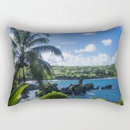Black Sand Beach, Hawaii Rectangular Pillow