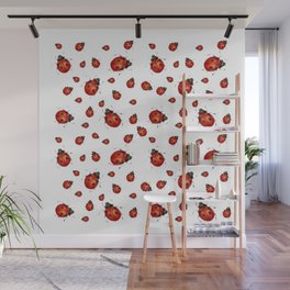 RED LADY BUGS Wall Mural