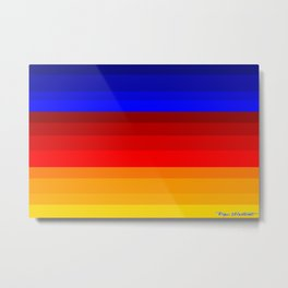 Red, Blue, and Happy All Over! Metal Print