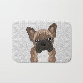 Brown Frenchie Puppy 001 Bath Mat