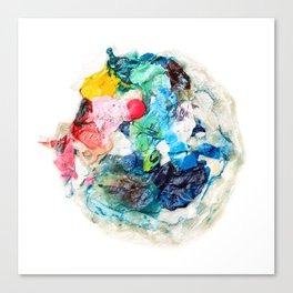 Rainbow Earth Paint Moon Love Canvas Print