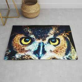 The Wise One - Owl Art By Sharon Cummings Rug