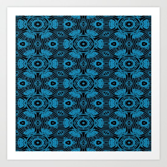 Black and Blue String Art 4406 Art Print