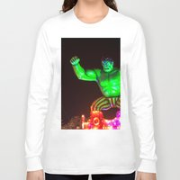 hulk Long Sleeve T-shirts featuring Hulk by Roser Arques