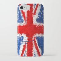 british flag iPhone & iPod Cases featuring BRITISH FLAG by Sophie