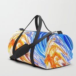 Riding the Wave of Orange Emotion; Fluid Abstract 53 Duffle Bag