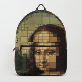 Mona Lisa on tiles Backpack