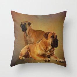 Boerboel - South African Mastiff Throw Pillow