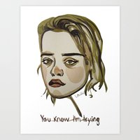 sky ferreira Art Prints featuring Sky Ferreira by Icillustration