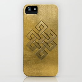 Golden Embossed Endless Knot iPhone Case