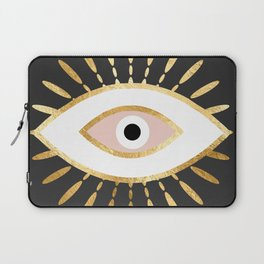 gold foil evil eye in blush Laptop Sleeve