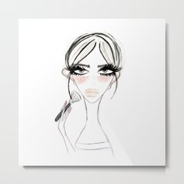Morning Make Up Metal Print