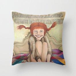 Pippilotta Viktualia Rullgardina Krusmynta Efraimsdotter Långstrump (Hija de Efraim Långstrump). Throw Pillow