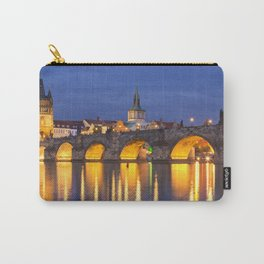 The Charles Bridge in Prague, Czech Republic at night Carry-All Pouch