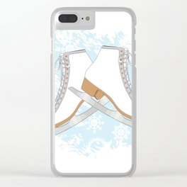 Ice skates Clear iPhone Case