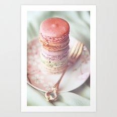 Bon Macarons  Art Print