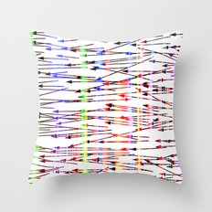 right to left Throw Pillow