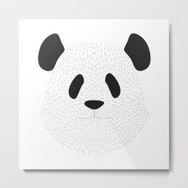 Pandas's face Metal Print