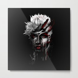 Red Eyes Metal Print