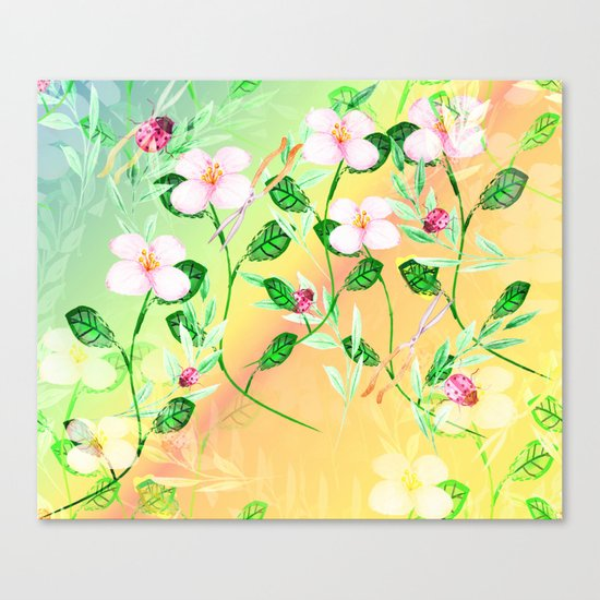 Garden Frenzy Day Canvas Print