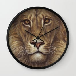 Animals | Lion Portrait | Nature | Painting | Art Wall Clock