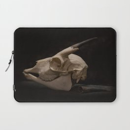 White Tail Deer Skull Laptop Sleeve