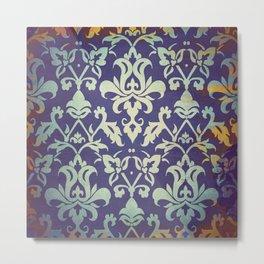Olden damask pattern Metal Print