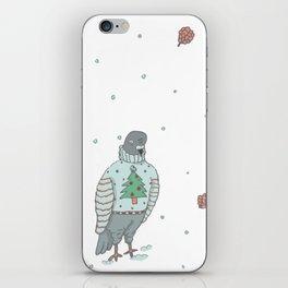 christmas pigeons iPhone Skin