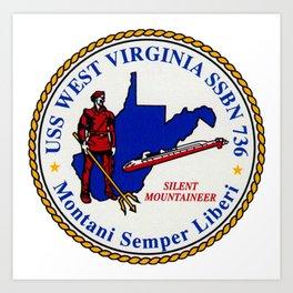 USS WEST VIRGINIA (SSBN-736) PATCH Art Print
