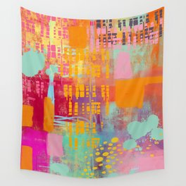 another day another party - abstract painting Wall Tapestry
