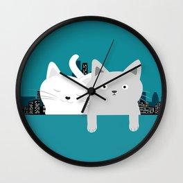 City Cats Wall Clock