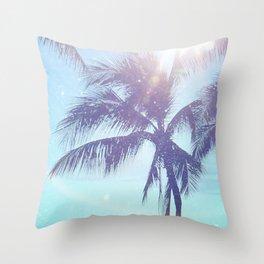 Sparkle Palms Throw Pillow