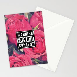 Red Roses Explicit Content Stationery Cards
