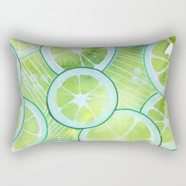Lime Rings Rectangular Pillow