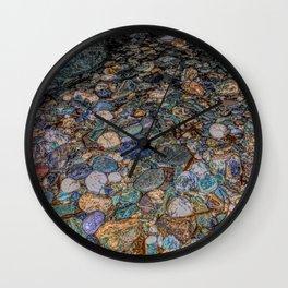 Merlin's cave pebbles Wall Clock