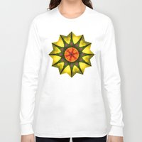 polygon Long Sleeve T-shirts featuring Star polygon by LudaNayvelt