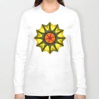 polygon Long Sleeve T-shirts featuring Star polygon by LudaNayvelt