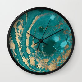 Fluid Gold Wall Clock