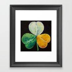 Irish Shamrock Framed Art Print