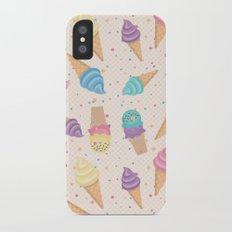 ice cream party iPhone X Slim Case