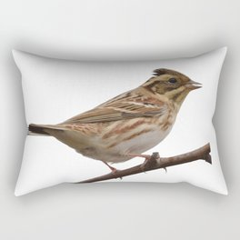 Rustic Bunting Bird Vector Isolated Rectangular Pillow