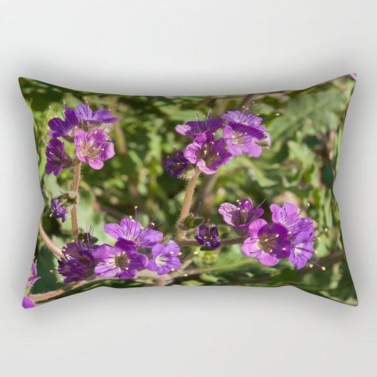 Notch-Leaved Phacelia - Desert Wildflower Rectangular Pillow