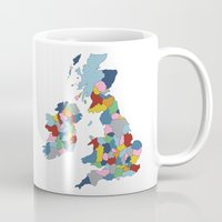 uk Mugs featuring UK by Project M